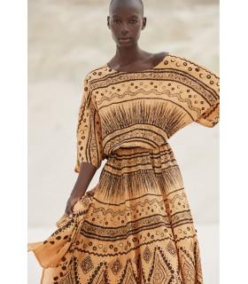 Buy Vestido ocre MES DEMOISELLES